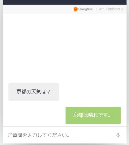 Web Demoでの回答