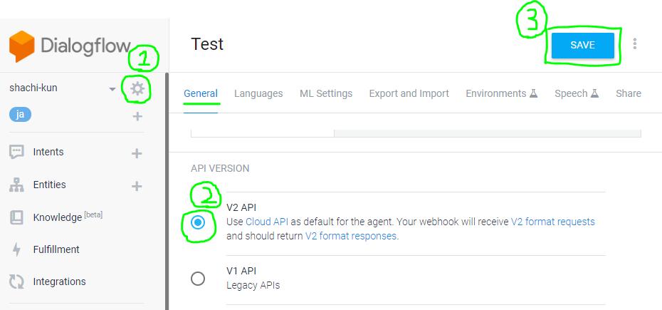 APIをバージョン2にする手順