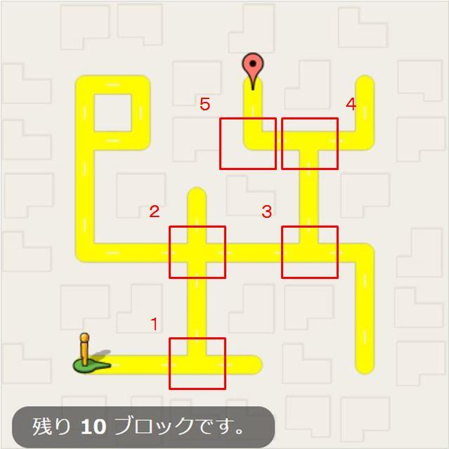 5つの曲がり角