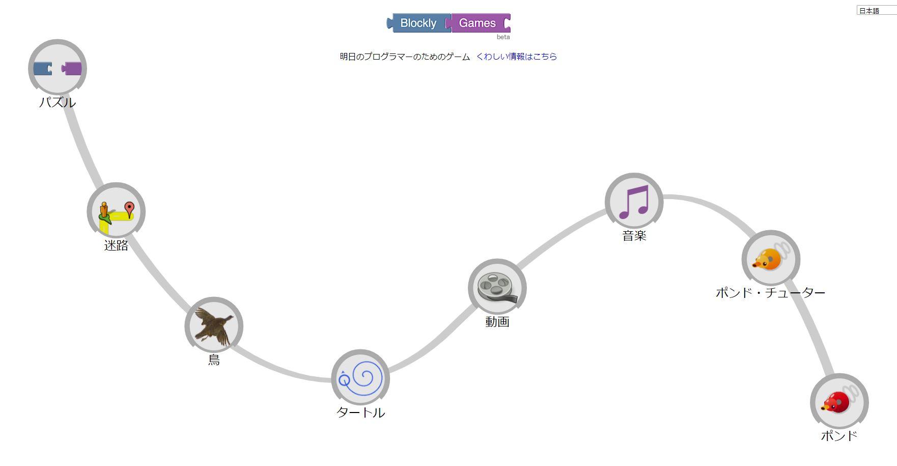 ブロックリー・ゲームの画面