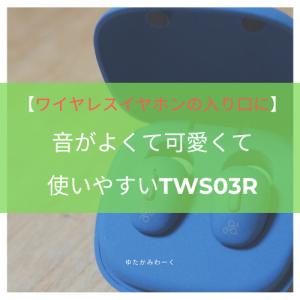 【ワイヤレスイヤホンの入り口に】音がよくて可愛くて使いやすいTWS03R