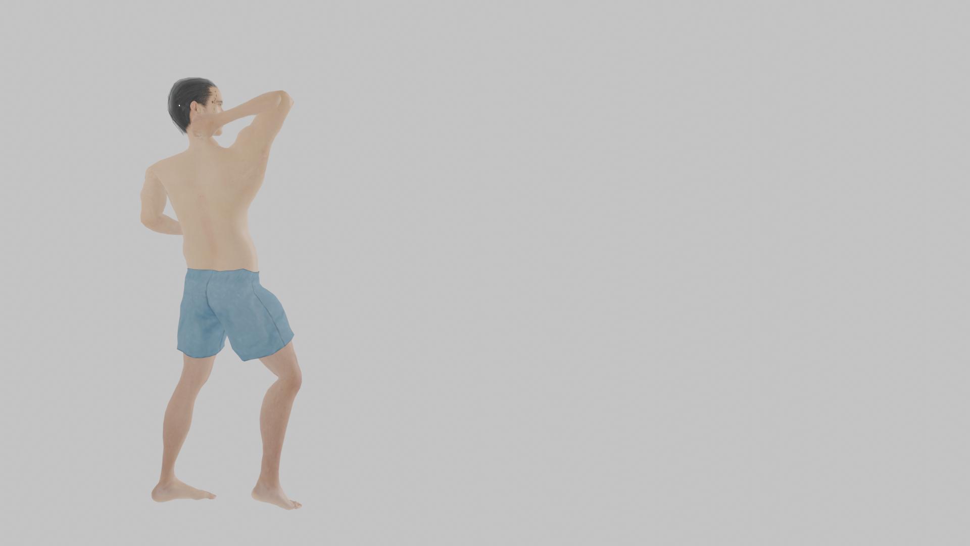 下から振り上げる肘でアゴを撃つアセンディングエルボー