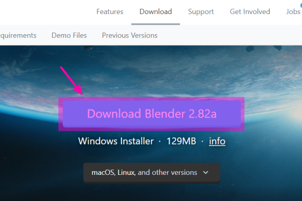 Download Blender xxxxをクリック