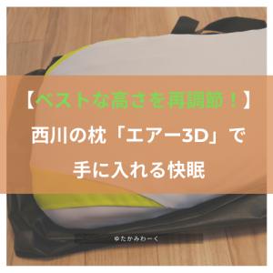 【ベストな高さを再調節!】西川の枕「エアー3D」で手に入れる快眠