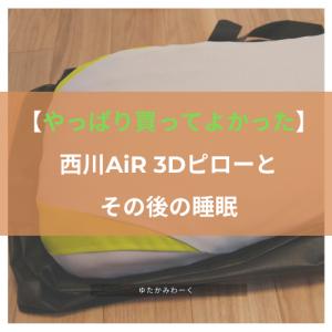 【やっぱり買ってよかった】西川AiR 3Dピローとその後の睡眠