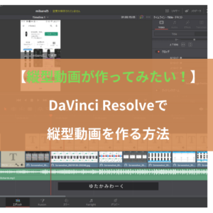【縦型動画が作ってみたい!】DaVinci Resolveで縦型動画を作る方法